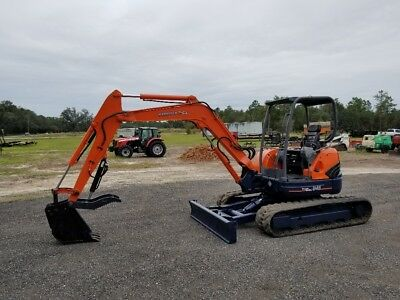 Kubota U45 Mini Excavator 42 Hp Zero Tail Swing Thumb Angle Blade 493 Hours