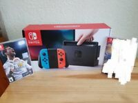 Nintendo switch console and Fifa18 game