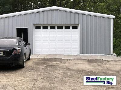 Steel Factory Mfg 24x24x8 Galvanized Steel Metal Storage Garage Building Kit