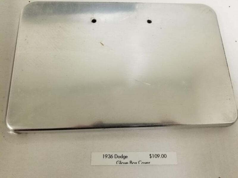1936 Dodge Smooth Polished Aluminum Glove Box Cover Door