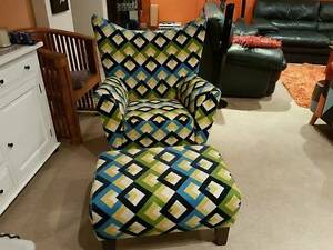 Arm Chair and foot ottoman Pagewood Botany Bay Area Preview