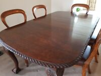 Dining Table & 6 Balloon Back Chairs