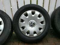 Vw wheels 5x112. All tires good condition