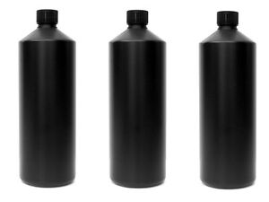 3X Darkroom Chemical Storage Bottles - 1L (Choice of Colour Options)