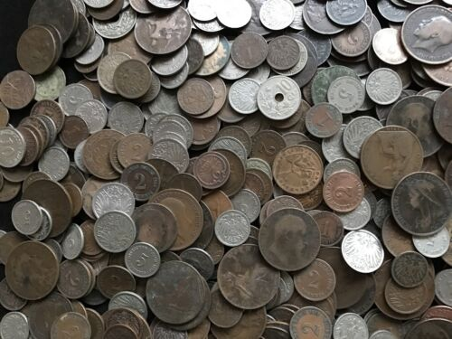 (5) Old Worldwide Coins // 100+ Years Old // A Part of History! // Antique Money