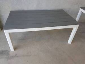 SANTORINI COFFEE TABLE WITH GREY POLYWOOD TOP Loganholme Logan Area Preview