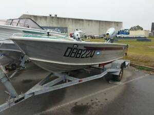 Quintrex 370 Dart 2014 Honda 15hp Electric Start MOTOR LIKE NEW Pialba Fraser Coast Preview