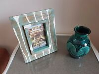 wooden photo frame & Safi Vase