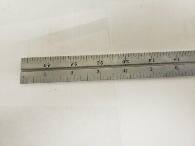 Starrett 24 Inch Slotted Steel Rule For Combination Square - No.4r Grad