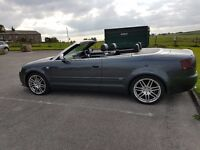 2007 AUDI A4 CABRIOLET 2.0 TDI S LINE GUNMETAL GREY RED ROOF HEATED LEATHERS