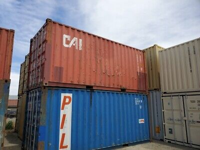 Used 20 Dry Van Steel Storage Container Shipping Cargo Conex Seabox Indianapoli