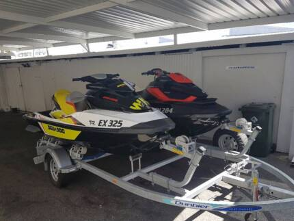 Double Sea-doo Jetskis on tandem tralier or swap for Bowrider