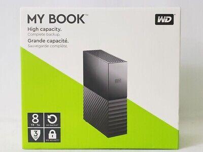 "WD My Book 3.5"" 8TB USB 3.0 External Hard Disk Drive Black WDBBGB0080HBK-NESN"
