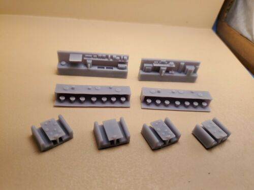 N Scale 8 Piece Cafe/Diner/Resturant Interior, 3D Resin Printed, Unpainted