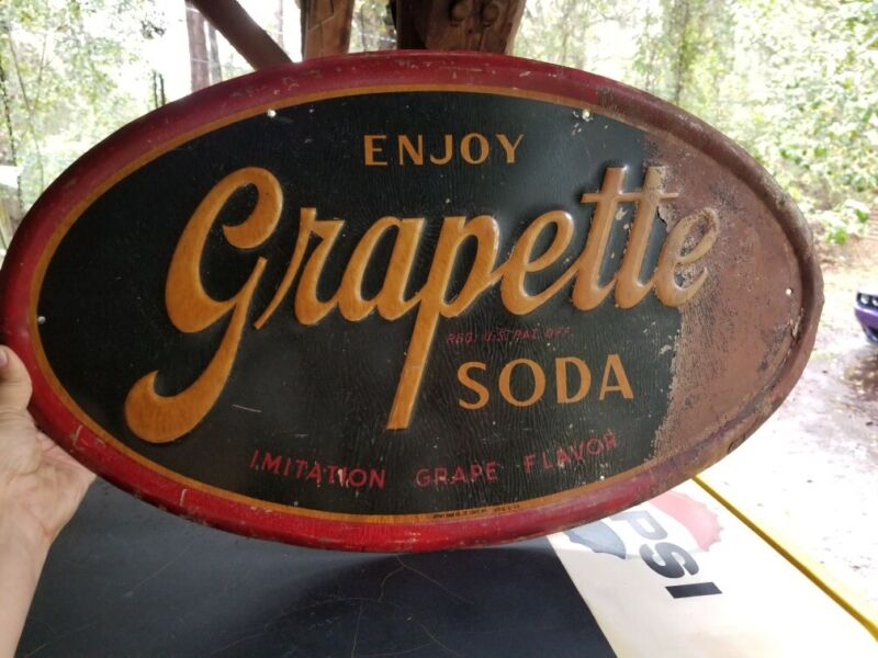 1950's Large Grapette Soda Sign