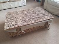Large under-bed wicker storage basket