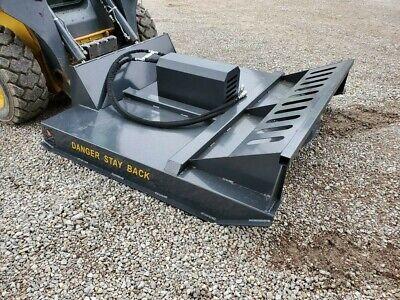 New 72 Hydraulic Skid Steer Brush Cutter Bush Hog Mower 400 Shipping