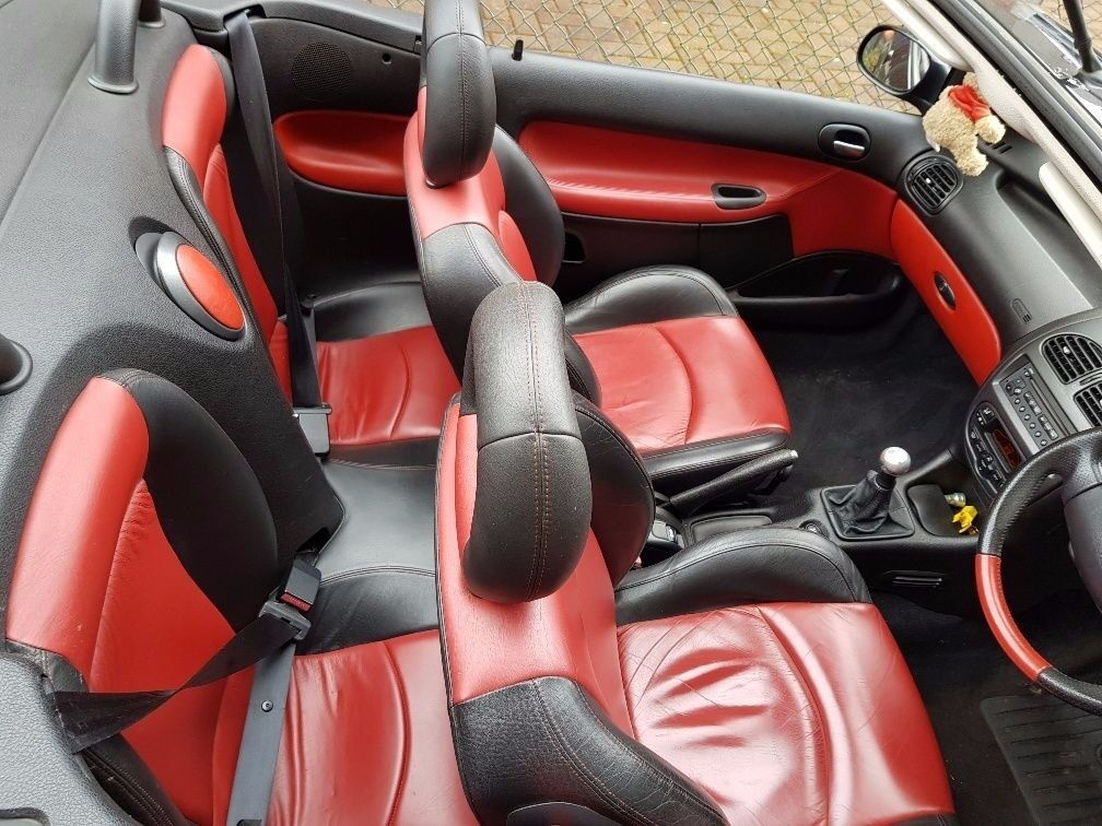 Peugeot 206cc Black with Red Leather Interior - Great Car. Take a ...