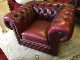 Chesterfield Style Oxblood Club Chair