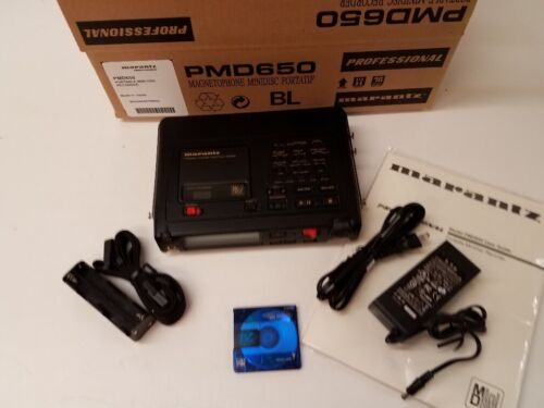 Super Clean Marantz PMD650 Portable MD Recorder 100-240vac 50/60hz operation
