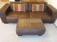 Complete set of Genuine Leather Sofas