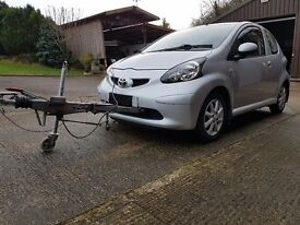 2008 Toyota Aygo Platinum VVT-I Tow Car for Motorhome- Armitage Approved Braked A-Frame