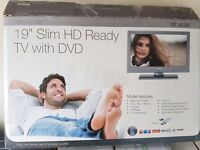 """12volt/240volt 19"""" TV, DVD PLAYER, FREEVIEW,PLUG AND PLAY RECORD, AND MORE, AS NEW."""
