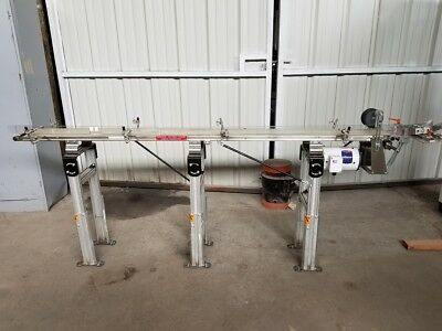 Dorner 7200 Stainless Steel Belt Conveyor B-496 Hp 12 Ratio 51 Adjustable