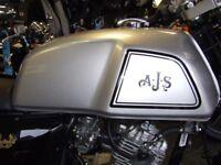 NEW AJS CADWELL 125CC CAFÉ RACER, SILVER, £11.61