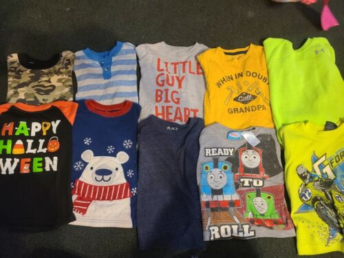 Huge 34 Piece Clothing Lot Boys Size 4T Clothes Fall Winter, Disney