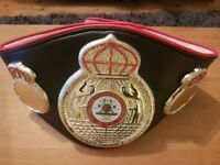 WBA World Champion Boxing Belt. Exact Scale Replica, Real Leather, Rare - Only 3 left!