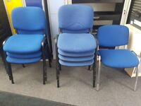 Blue Visitor Meeting Office Training Conference Room Chairs