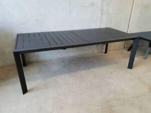 Morocco Extension Dining Table (230cm - 345cm) in Black Aluminium Loganholme Logan Area Preview