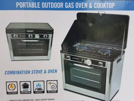 As New Companion Portable Gas Camping Oven & Stove Cooktop Combo