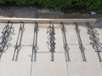 Decorative Architectural Salvage Ornate Antique Wrought Iron Spiral Spindles for banisters/railings