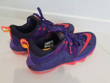 8fc71a6b31a37 Nike Lebron XII Low Raptors Court Purple Bright Crimson