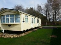 Cheap Double gazed static caravan with central heating on 4* Park in Lockerbie.
