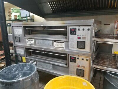 Used Middleby Marshall Ps570s Double Conveyor Pizza Oven