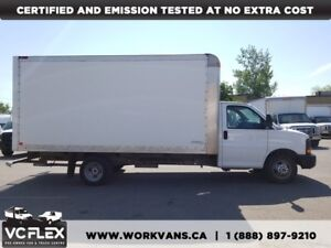 2013 GMC Savana 3500 16Ft 6.0L V8 Gasoline Cube Van + Ramp