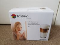 Tassimo Latte Macchiato Set of 2 glasses