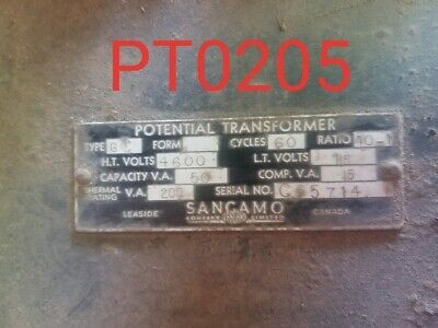 Sangamo Potential Transformer Ratio 401 Type Gc