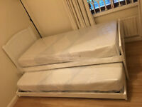 John Lewis £700 Solid Pine Guest Liftup Trundle Bed, New Mattresses, Free Delivery