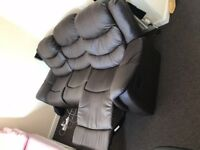 THREE SEAT RECLINER FAUX LEATHER SOFA