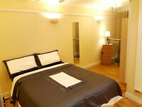 Shoreditch, double 295pw with ensuite and living rm and smll garden, all bills and wifi incl,cpls ok