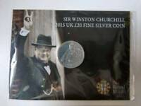 Winston Churchill 2015 Fine Silver Coin £20