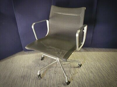 Herman Miller Ea335 Eames Aluminum Group Management Black Mesh Office Chairs