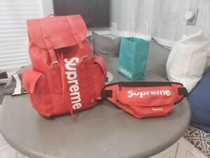 Supreme pouch and backpack
