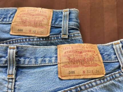 Original 1980's Men's Levis 501 Button Fly Jeans - $44 each