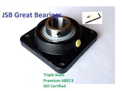 Q.4 Ucf210-32 Square Flange Bearing Premium Solid Base Triple Seals Abec3 2