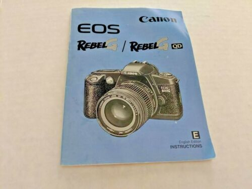 Canon EOS Rebel G Instruction Manual Only (No camera), near perfect condition